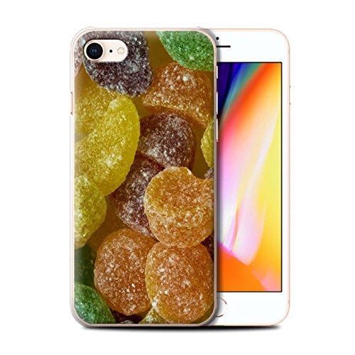 Stuff4 Hülle / Case für Apple iPhone 8 / Fruit Pastilles Muster / Bonbons/Süßigkeiten Kollektion Fruit Pastilles