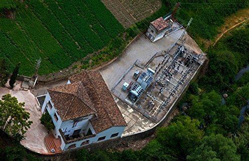 The Poster Corp Panoramic Images - Electrical Sub-Station beklow Ronda Malaga Province Andalucia Spain Photo Print (91,44 x 30,48 cm) Sub-station