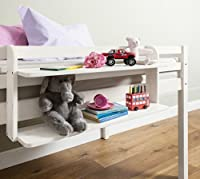 Cabin Bed Double Shelf Multi Purpose shelf ideal for Midsleepers White