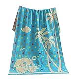 Baby / Kinder-Baumwoll-Bad-Teppich Breathable Badetuch Sommer-Abdeckungs-Decke 27.55'x55.11(Blau)