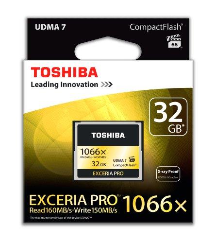 Toshiba Scheda di Memoria CF Compact Flash 32GB, Exceria Pro, 160MB/s, 1066x, VPG65, UDMA7