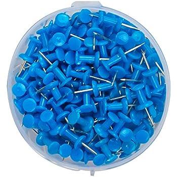 20 St/ück blau Wedo 54103 Pinnadeln Diabolo-Form in Klarsichtdose