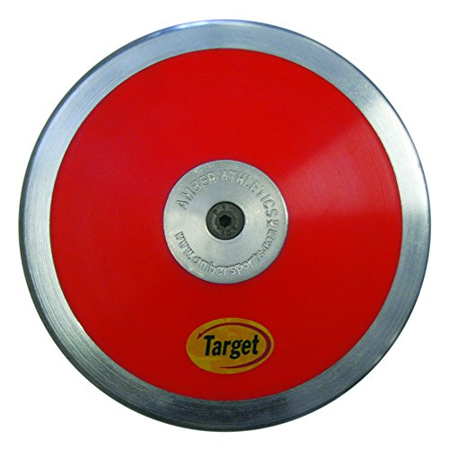 Amber Athletic Gear Discus Target High Spin, Red, 1.5 kg, DTT-15
