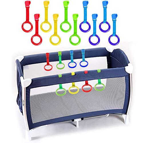 Rovtop 10 Pezzi Anelli Box Bambini Anelli per Culla e Lettino Aiuta il Bambino Imparare Stare Piedi