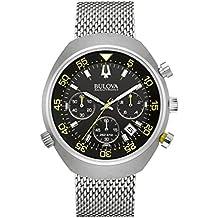 Bulova Accutron aragosta II-Orologio cronografo da uomo al quarzo con Display con cronografo e cinturino in acciaio INOX color argento 96B236