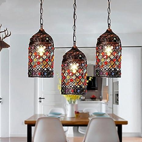 Kronleuchter American Pastoral Bar Restaurant Leuchterlampe Wohnzimmerlampe Korridor Fr Eiserne Lampe Gin