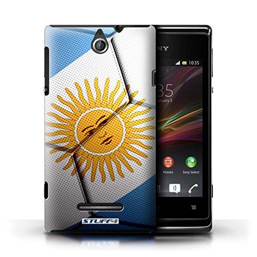Kobalt® Imprimé Etui / Coque pour Sony Xperia E / Italie/Italien conception / Série Nations de Football Argentine