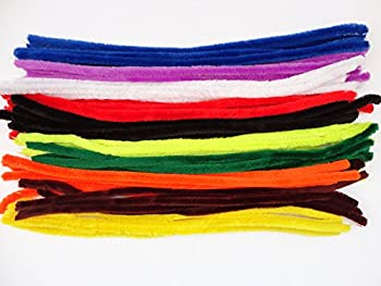 10,20,50 Extra Long Large Fluffy Chunky Craft Pipe Cleaners Stems -50cm X 15mm - Pack Size: 50 0