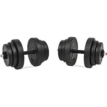 Xingshuoonline - Juego de Mancuernas (18 Piezas, 40 kg, para Gimnasio, Fitness