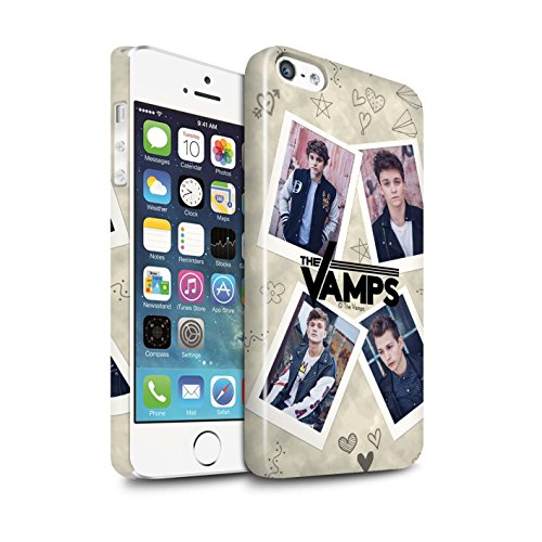 Offiziell The Vamps Hülle / Glanz Snap-On Case für Apple iPhone 5/5S / Ausgeschnitten Muster / The Vamps Doodle Buch Kollektion Mappe