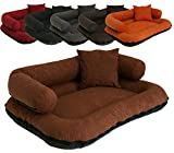 Leo4dog. Sofa Alova. M L XL XXL XXXL 6 colors. Dog bed, dog cushion, dog sofa. (L-100X80, Orange)
