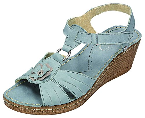 MICCOS, Zoccoli donna Blu Jeans Blu (Jeans)