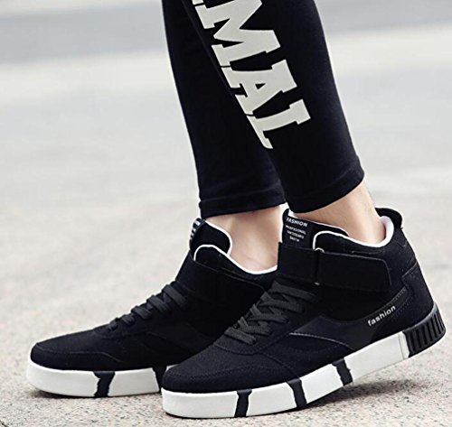 Léger Natation Athlétique Haut Top Haut-parleur Courant Entraînement respiratoire PE Gymnase Chaussures confortables pour hommes Taille de l'UE 39-44 Black
