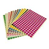 LJY rund Dot Aufkleber Farbe Codierung Etiketten, 12 verschiedenen Farben sortiert Dot Etiketten, 12 Blatt