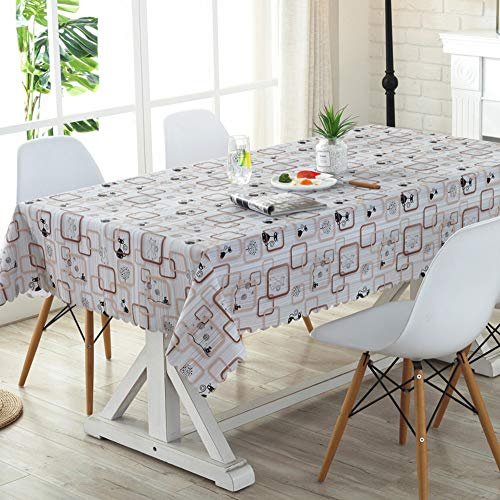 XMZDDZ Karo Druck rechteck Tischdecke,Gemischte café Tischdecke Für Halloween Indoor Coffee Table Abwaschbare Flecken resistent Tischdecke-C 90x150cm(35x59inch)