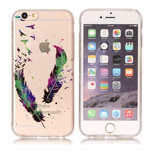 Per iPhone 6 / iPhone 6S Cover , YIGA Moda le onde Cristallo Trasparente Silicone Morbido TPU Case Caso Shell Protezione Copertura Custodia Copertina per Apple iPhone 6 / iPhone 6S (4.7) FD1