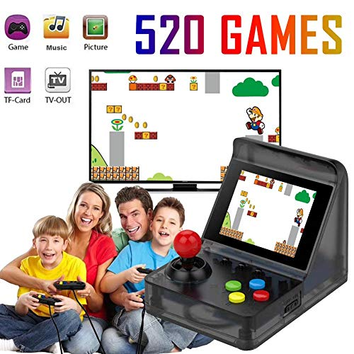 Libeauty Handheld Games Mini Street Fighter Built-in 520 Classic Doubles Game Handheld 32-Bit Handheld Game Player