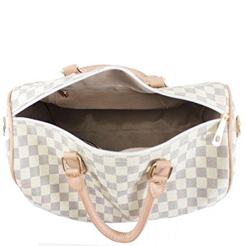 LeahWard® Damen Große Größe Tragetaschen Reise Handtaschen Groß Marke nett Schultertaschen 41412 Braun Prüfen H26cm x W36cm x D17cm