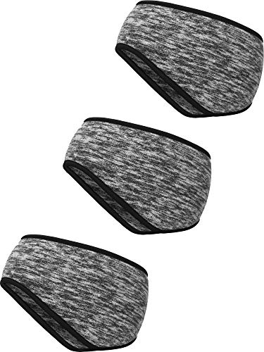 Blulu 3 Stück Ohr Wärmer Stirnband Vollständige Abdeckung Ohrenschützer Stirnband Sport Stirnband für Außeneinsatz Sport Fitness (Grau) -