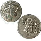 Reproduction métal réplique monnaie ancienne Drachme Athena Grèce chouette Athènes...