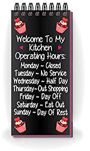 Nourish Welcome to My Kitchen Fridge Magnetic Note Pad