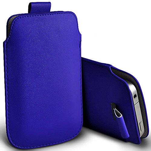 ( blau ) Tasche Case für Yezz Monaco 4.7 bei Premium stilvolle Kunstleder Lasche Tasche Hülle Cover in verschiedenen Farben zu wählen, FromYezz Monaco 4.7 von i-Tronixs