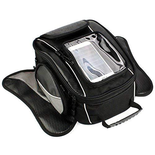 Dracarys Motorrad-Tanktasche - Wasserdichte Oxford Satteltasche schwarz Motorradtasche - Universal Starke Magnettasche für Honda Yamaha Suzuki Kawasaki Harley - Honda Schnalle Gürtel