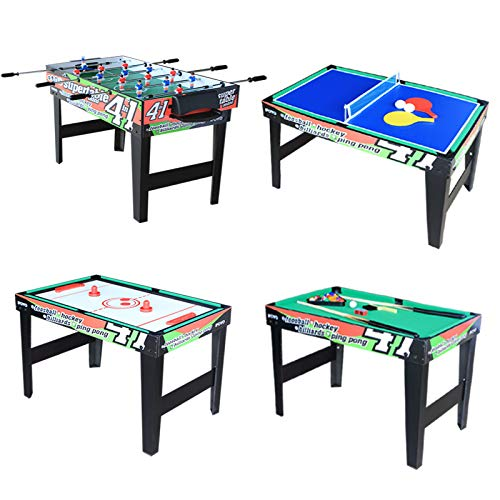 IFOYO 4 in 1 Multi Game Table for Kids, 31.5 Inch Steady Combo Game Table, Soccer Football Table, Hockey Table, Pool Table, Table Tennis Table