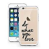 iPhone 5 5S SE Hülle von licaso® für das Apple iPhone 5S aus TPU Silikon Do What you Love Motivation Be Free Muster ultra-dünn schützt Dein iPhone 5SE & ist stylisch Schutzhülle Bumper in einem (iPhone 5 5S SE, Do What you Love)