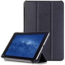 AVIDET Xiaomi Mi Pad 3 Funda Case, Ultra Delgada Tri-Fold Smart Case Cover PU Cuero Smart Cascara con Soporte para Xiaomi Mi Pad 3 (Negro)
