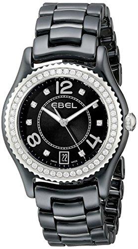 EBEL Women's 1216156 X-1 Analog Display Swiss Quartz Black Watch