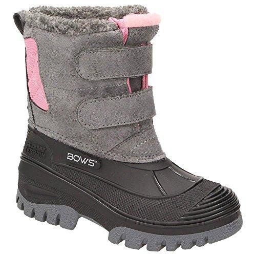 BOWS® -KEKE- Mädchen Kinder Schnee Stiefel Winterboots Schuhe Warmfutter wasserdicht wasserabweisend, Schuhgröße:27, (Kinder Stiefel)