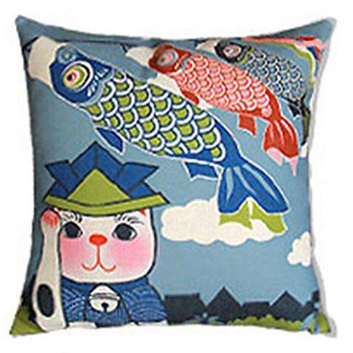 Black Temptation Style Japonais Coussin d'oreiller Confortable pour la Maison/Sushi Restaurant 45x45cm -A6
