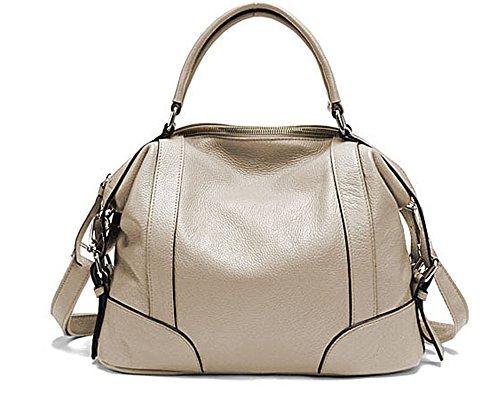 Sacs à main pour femme Xinmaoyuan Mesdames de vache sac de messager d'épaule de sac à main Sacs à main en cuir de mode White