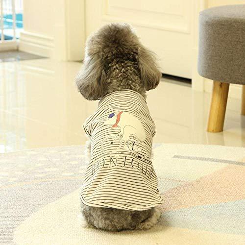 Für Kostüm Kleine Hunde Bären - QHorse Kleidung Regenjacken kleinen weißen Bären Katze Kostüm Teddy Hund Haustier Kleidung @ Little White Bear Weste (schwarz) _XL Muster