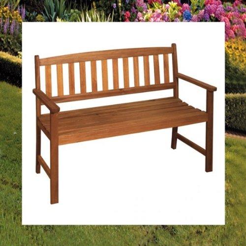 2-Sitzer Gartenbank Holz Bank Trop. Hartholz Nr. 960278 - 2