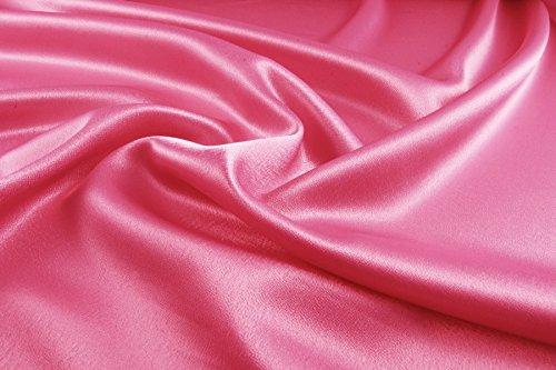 Supgod - splendido tessuto in raso di seta al metro per abiti su misura, matrimoni, cerimonie, colore: rosa