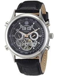 Constantin Durmont Herren-Armbanduhr XL Lafitte Analog Automatik Leder CD-LAFI-AT-LT-STST-BKRG