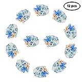 Pandahall precio por una caja Estilo océano Oval Abalorio cristal de Murano Hecho a mano, colorido, 20~22x16~17x6 mm