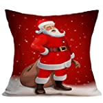 Longra No�l Throw Pillow Case Housse...