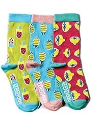 Verrückte Socken Oddsocks Kitschy für Mädchen im 3er Set