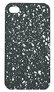 Zeztee ZT5831 Multicolor Soft feel plastic back cover with designer spot pattern (glows in dark after light absorption) designed for Mobile Apple Iphone 4/4s