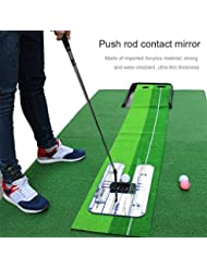 Famed Golf Putting Mirror Alignment Trainingshilfe Swing Trainer Golfschwung Straight Practice Eye Line Zubehör