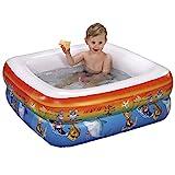 #11 Baby Planschbecken Badewanne mit aufblasbarem Boden passend für Duschwannen 85 cm Mehrfarbig...