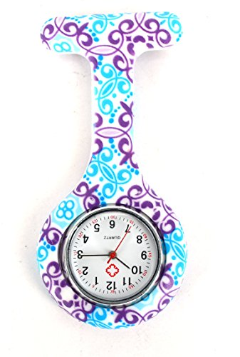 New Geometric Flowers Silicone Nurse Watch Doctor Paramedic Tunic Brooch Fob Medical TopDeals4You®