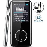 """[Neue Version] MP3 Player,Tinzzi MP3-Player Musik-Player Bluetooth Mit kompatibel HIFI,Digitales Audio-Player-Legierung integrierte Kapazität 8GB mit 1.8 """"/ 46 mm LED-Display / Portabler Player mit Audio-Player für Sport mit Micro SD-Kartenslot"""