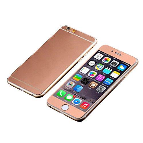 Für iPhone 5G 5S Displayschutz Glas-Guizen Ultra Dünn 3D Curved [Legierung Full Deckung] maximalen Vor und Rückseite Panzerglas Displayfolie Panzerfolie Schutzfolie Schutzglas für Apple iPhone 5G 5S, 1 Set (vorne und hinten)-Rose Gold (Iphone 5 Glas Abdeckung)