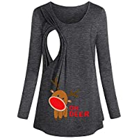 Camisa De La Navidad De Las Mujeres Embarazadas, Camiseta Divertida Linda De Maternidad De La