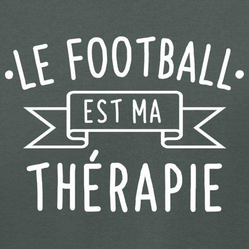 Le football est ma thérapie - Femme T-Shirt - 14 couleur Gris Foncé
