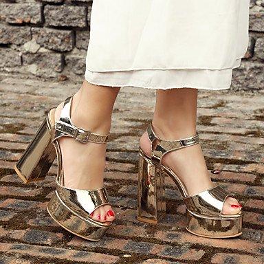 LvYuan Damen-Sandalen-Kleid Lässig Party & Festivität-PU-Blockabsatz-Andere-Schwarz Weiß Silber Gold Black